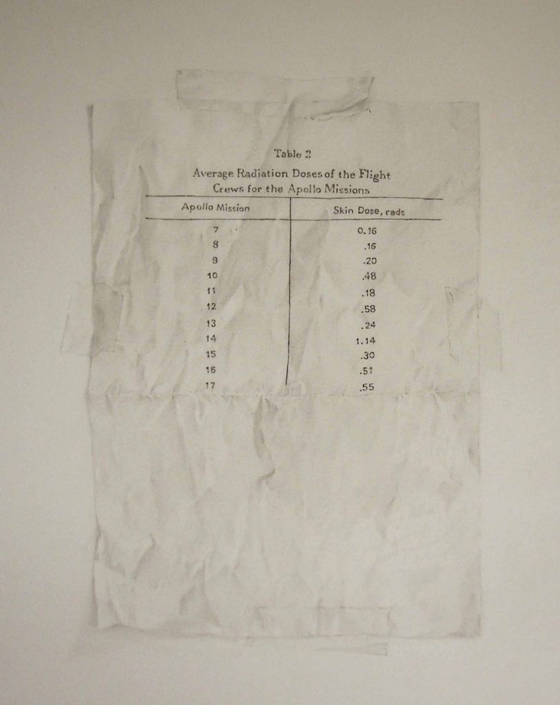 Apollo Radiation Chart - drawing by Penny McCarthy