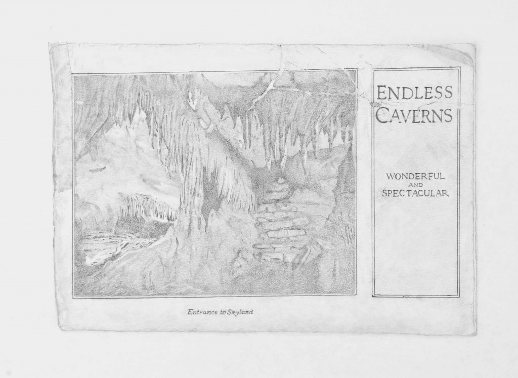 Endless Caverns - drawing by Penny McCarthy
