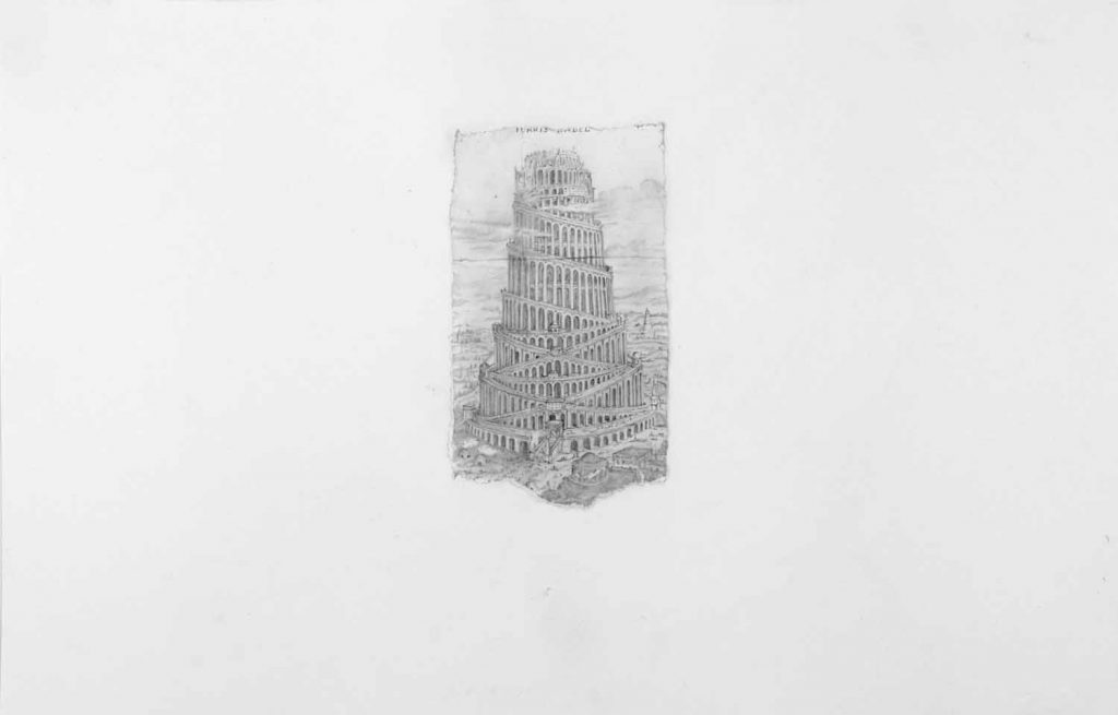 Tower of Babel - drawing by Penny McCarthy