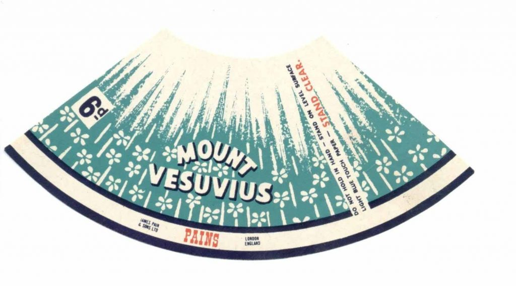 Vesuvius - drawing by Penny McCarthy