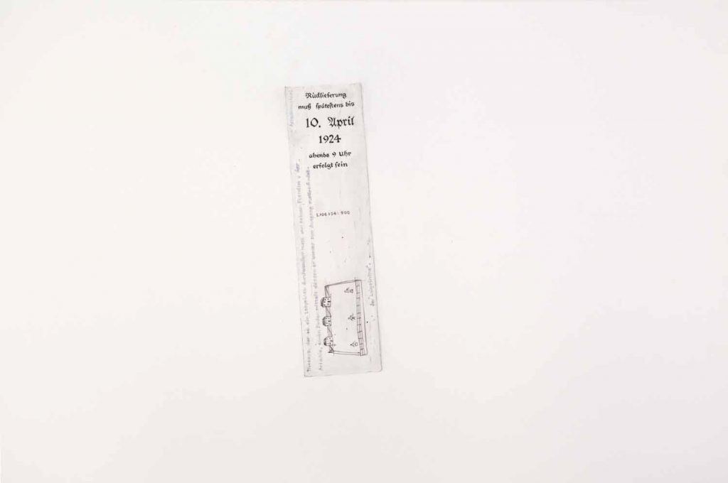 Walter Benjamin's Bookmark - drawing by Penny McCarthy