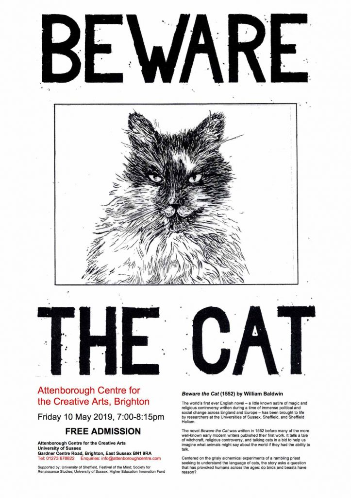 Beware the Cat Poster by Penny McCarthy