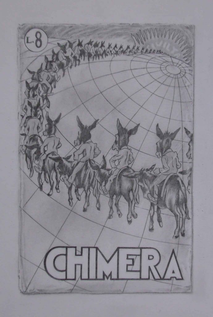 Chimera - drawing by Penny McCarthy