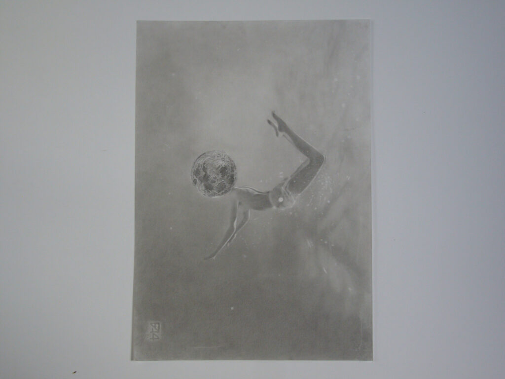 Aglaonice (after Etienne Bayard) 33 x 45 cm Pencil on paper 2020